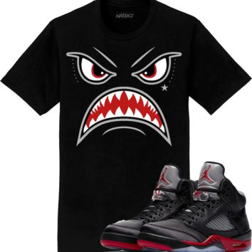 Jordan 5 Satin Sneaker Tees Shirt to Match - BRED WARFACE