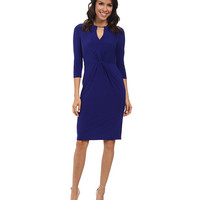 Vince Camuto Long Sleeve Bodycon Jersey Twisted Dress w/ Hardware