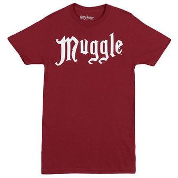 Harry Potter Muggle Non-Magical Person Officially Licensed Adult Unisex T-Shirt