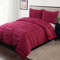 Home Classics Carolyn 3-pc. Duvet Cover Set - Full/Queen (Pink)