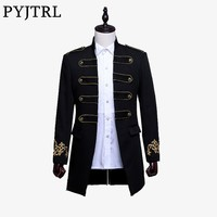 Men Double-breasted England Style Long Slim Fit Blazer