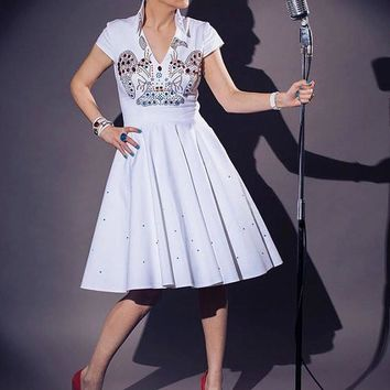Elvis Inspired Wedding Dress By TiCCi Rockabilly