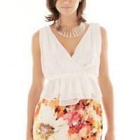 CHIFFON PEPLUM TOP @ KiwiLook fashion