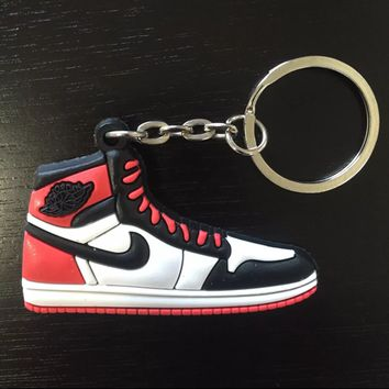 Jordan 1 Retro Black Toe Keychain