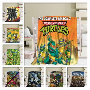 Teenage Mutant Ninja Turtles Blankets 3D Printing Soft Blanket Throw On Home/Sofa/Bedding Portable Adult Travel Cover Blanket 1 2