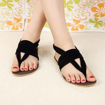 Women Flat Heel Flip-Flop Flip Casual Sweet Sandals For Woman Shoes (US Size) [8424215