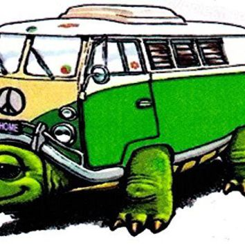 Volkswagon vw Stickers for Cars Trucks Hippies Green Turtle Decal