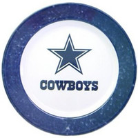 NFL Dallas Cowboys 4 Piece Dinner Plate Set