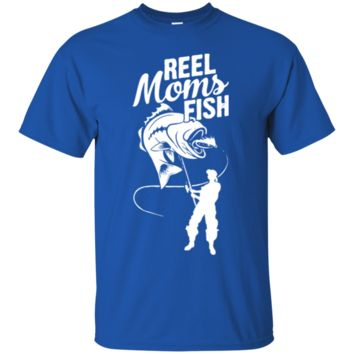Reel Moms Fish  Ladies Tee Shirt