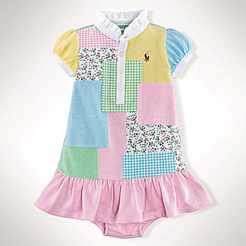 Ralph Lauren Childrenswear 3-24 Months Patchwork Dress - Patchwork/Mul