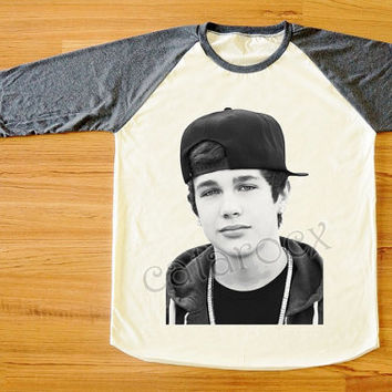Austin Mahone T-Shirt Teen Pop Rock Shirt Rock T-Shirt Long Sleeve Shirt Women T-Shirt Men T-Shirt Raglan Tee Shirt Baseball T-Shirt S,M,L