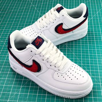 Nike Air Force 1 Low Chenille Swoosh Fashion Shoes - Best Online Sale