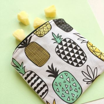Summer Pineapple Reusable Snack Bag