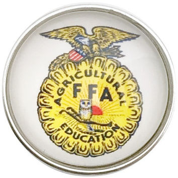 FFA School Snap Charm 20mm for Snap Jewelry