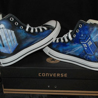 Doctor Who Converse SneakersCustom by EmilyTamHandPainting on Etsy