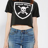 Urban Outfitters - LIFE Death Metal Cropped Tee