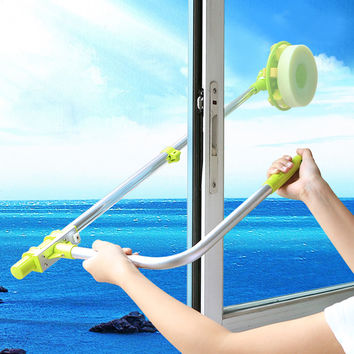 telescopic High-rise window cleaning glass cleaner brush for washing windows Dust brush clean the windows  hobot 168 188