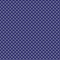blue scales white outline fabric - amybethunephotography - Spoonflower