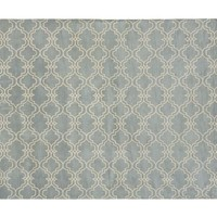 SCROLL TILE RUG - PORCELAIN BLUE