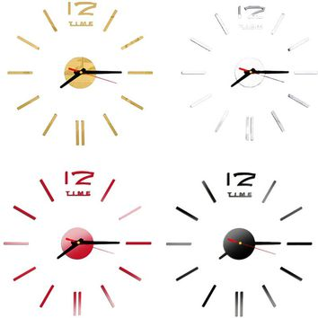 2016 New Fashion Wall Clock Acrylic Plastic Mirror Wall Home Decal Decor Vinyl Art Stickers for Home Bedroom VBD57 P0.3