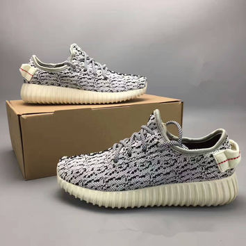 """Adidas X Yeezy 350 Boost Oxford Tan"" Fashion Casual Coconut Unisex Sneakers Couple Running Shoes"