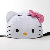 Hello Kitty Kids Fuzzy Helmet: White