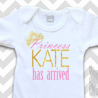 Princess Has Arrived - Take Home Infant Outfit - Baby Girl Onesuit - Newborn Girl Clothes, Shower Gift - Hospital Newborn Outfit