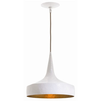 Arteriors Home Ziggy Wide Hammered Iron Pendant
