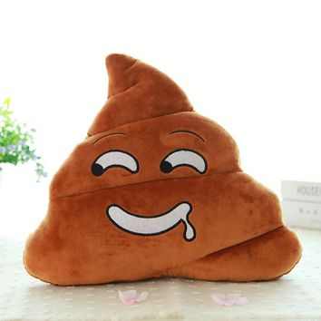 New Cute Pillow Emoji Emoticon Cushion Shape Pillow Doll Toy Throw Pillow Amusing Poo Shape Cushion Christmas Gifts -15