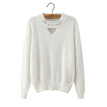Knit Winter Ladies Long Sleeve Pullover Bottoming Shirt [8422522689]