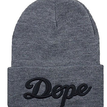 Lengendy Winter Warm Funny Hip Pop 3D Dope Beanie Hat for Men and Women Winter Cap Skully Grey Black