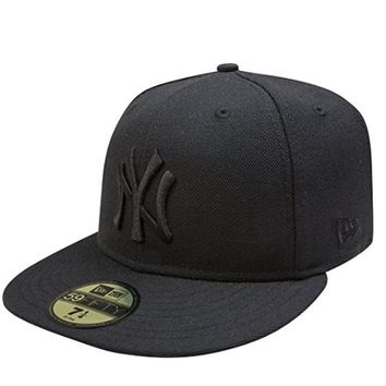 Mens New Era MLB New York Yankees Tonal Blackout 59Fifty Fitted Hat