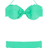 Miu Miu | Scalloped underwired bow bikini | NET-A-PORTER.COM