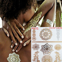 Temporary Tattoo Golden Stickers