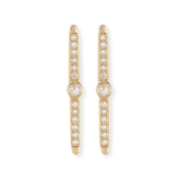 Meredith Marks Rose-Cut Diamond Stud Earrings in 14K Yellow Gold