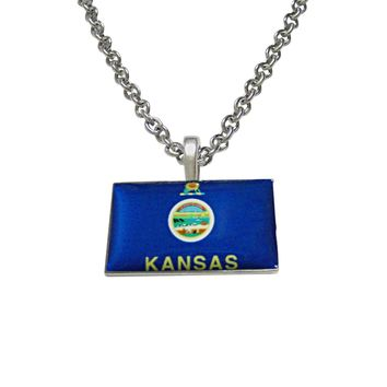Kansas State Flag Pendant Necklace