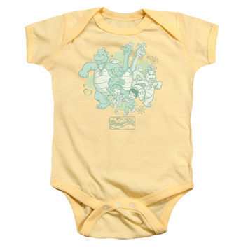 Dragon Tales Group Celebration Banana One-Piece Body Suit