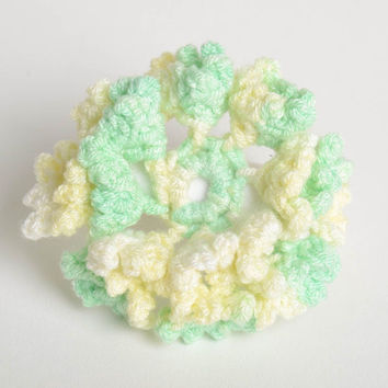 Stylish handmade crochet scrunchy hair tie hair accessories for girls gift ideas