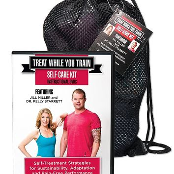 Yoga Tune Up Fitness Treat While You Train Kit with Jill Miller and Kelly Starrett, 2 DVD Set and Full Roll Model Self Massage Therapy Ball Set