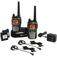 Midland 36-mile Gmrs Radio Pair Pack With Drop-in Charger Rechargeable Batteries & Headsets
