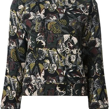 Valentino butterfly embroidered sweatshirt