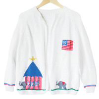 GOP Republican USA Conservative Political Handmade Ugly Sweater