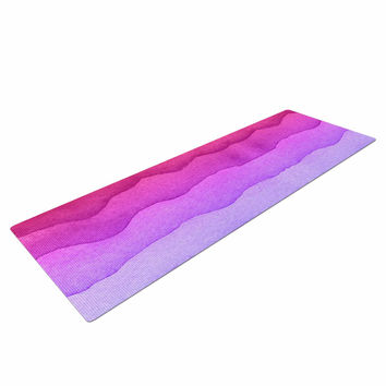 "Kess Original ""Ombre Sunset"" Coral Abstract Yoga Mat"