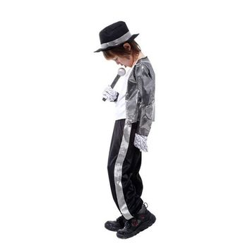 Halloween children cosplay costume  Superstar Michael Jackson performence suits singer dance suits Christmas stage