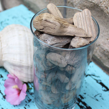 Small Driftwood Nugget Vase Filler , Natural Beach Decoration , Coastal Chic Decor DN85