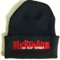 retro 1980's horror movie Nightmare On Elm Street beanie