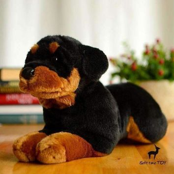 Rottweiler Dog Stuffed Animal Plush Toy 16""