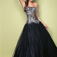 Pink by Blush 5218 Black Ball Gown