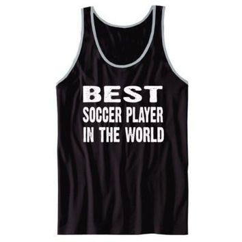 Best Soccer Player In The World - Unisex Jersey Tank