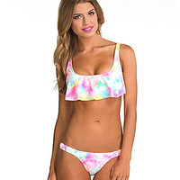Bikini Lab Baby, I Was Born Tie Dye Hanky Bra Top & Skimpy Hipster Bottom | Dillards.com